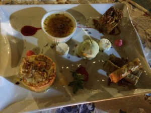 Dessert plate at Green Herring